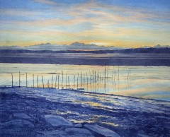65 - Winter sunset over Wigtown Bay