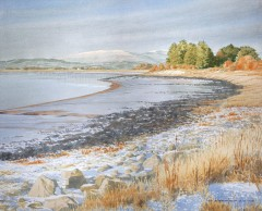 66 - Winter over Galloway hills and Cree estuary