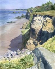 1 - Beach and Cliffs, Penestin-sur-Mer, Brittany