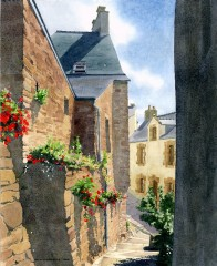 3 - Stone Walls and Flowers, La Roche-Bernard, Brittany