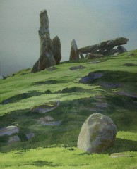41 - Cairnholy II, with silhouetted stones